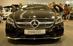 Autosalon Slovacchia 2014 - classe CLS di Mercedes Benz Fotografie Stock