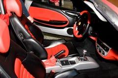 Autosalon Slovakien 2014 - röd Ferrari spindel F1 Royaltyfri Bild