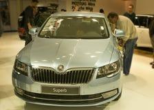 Autosalon Slovakien 2014 - superb SKODA Royaltyfri Foto