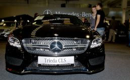 Autosalon Slovaquie 2014 - classe CLS de Mercedes Benz Photo libre de droits