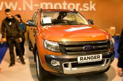 Autosalon Slovaquie 2014 - Ford Ranger Images stock