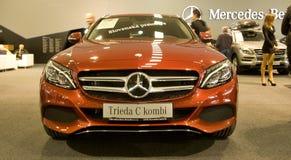 Autosalon Slowakei 2014 - Mercedes Benz-Klasse C Combi Stockbilder