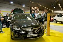 Autosalon Slowakei 2014 - Opel-Insignien Lizenzfreie Stockbilder