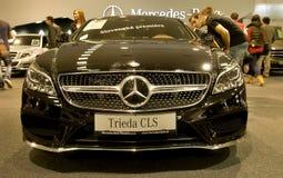 Autosalon Slowakije 2014 - Mercedes Benz-klasse CLS Stock Foto's