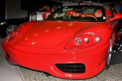 Autosalon Slowakije 2014 - Rode Ferrari-Spin F1 Royalty-vrije Stock Afbeeldingen