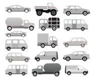 Autosammlung (Schwarzes u. Weiß) Stockfotografie