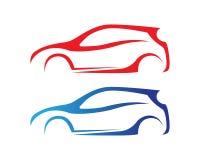 Autoschattenbildlogo Vektorschablonen-Ikonen-APP Stockfotos