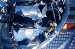 Autoscheinwerfer-Nahaufnahmexenon Lizenzfreie Stockfotografie
