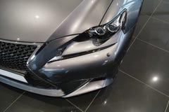 Autoscheinwerfer, neues Lexus IST 2013 Stockfotografie