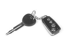 Autoschlüssel mit Warnung Stockbilder