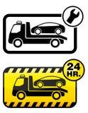 Autoschleppen lizenzfreie abbildung