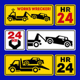 Autoschleppen-LKW-Ikone Lizenzfreie Stockfotos