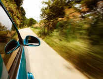 Autoschnell fahren Stockfotografie