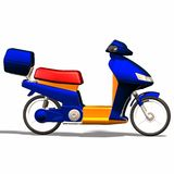Autoscooter. A very colorful, modern scooter, Profilfoto Royalty Free Stock Photos
