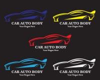 Autoselbstkörperteilvektor-Logoentwurf und Symbolillustration vektor abbildung