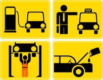autoservice更改燃料机油岗位出租汽车 库存图片