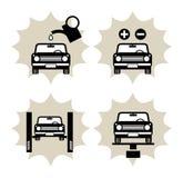 Autoservice-Ikone Lizenzfreie Stockfotos