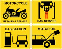Autoservice, motorcycle repairs Stock Photography