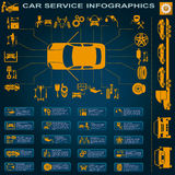 Autoservice, Reparatur Infographics Stockbild