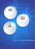 Autoservice-Schablonenabdeckungs-Broschürenhintergrund Stockbilder