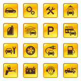 Autoservice- u. -reparaturikonen Lizenzfreies Stockfoto