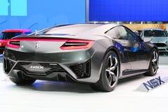 Autoshow-Konzept-Auto Acura NSX Lizenzfreie Stockfotografie