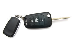 Autosleutel en alarmsysteemcharme Royalty-vrije Stock Afbeelding