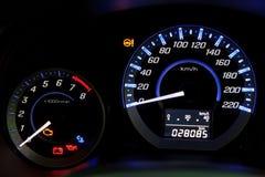 Autosnelheidsmeter Royalty-vrije Stock Afbeelding