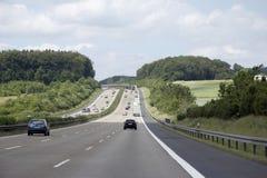 Autosnelweg in Duitsland stock afbeelding