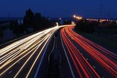 autosnelweg licht Stock Afbeeldingen
