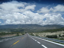 Autosnelweg Puebla aan Oaxaca stock afbeelding