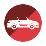 Autosport-Fahrzeugikone Stockbilder