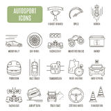 Autosport  icons. Set of vector pictogram Royalty Free Stock Photo