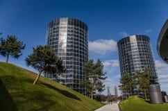 Autostadt-πόλη (πάρκο με τους πύργους αυτοκινήτων) Στοκ εικόνες με δικαίωμα ελεύθερης χρήσης