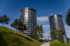 Autostadt-City (park with car towers) Royalty Free Stock Images