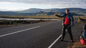 Autostop na Iceland zdjęcie stock