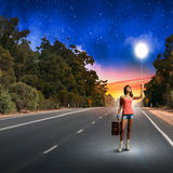 Autostop podróżować Obraz Stock