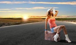 Autostop podróżować Zdjęcia Royalty Free
