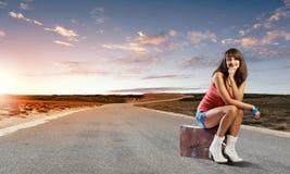 Autostop podróżować Zdjęcie Stock