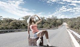 Autostop podróżować Obrazy Royalty Free