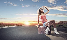 Autostop travel Stock Images