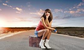 Autostop traveling Stock Image