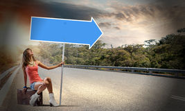 Autostop traveling Stock Images
