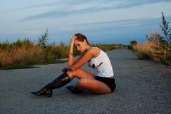 Autostop women Stock Images