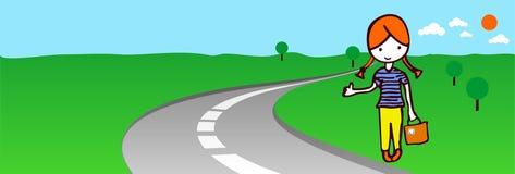 Autostopista libre illustration