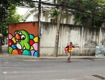 autostopista Foto de archivo
