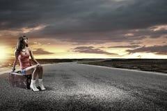Autostoplopp Arkivfoto