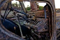 Autostortplaats stock foto's