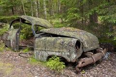 Autostortplaats in Kirkoe Mosse Stock Foto's
