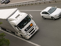 autostradą ciężarówka usa kalifornii Obraz Royalty Free